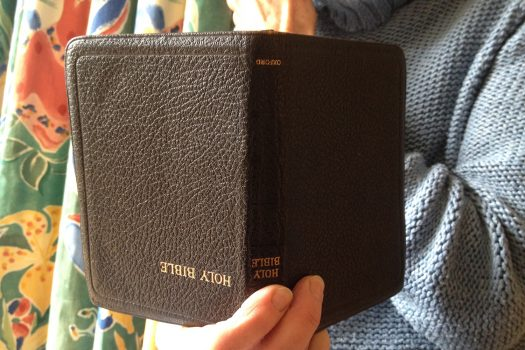 Photo of upside down Bible