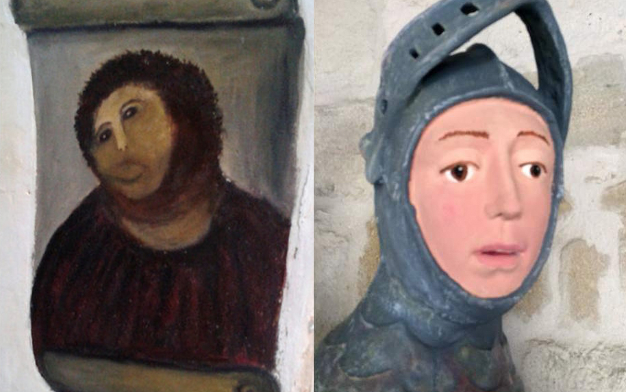 Photo of the restorations of Jesus in Borja, and St George in Estella